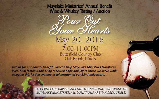 Mayslake Minstries' Wine Tasting & Auction Annual Benefit | May 20, 2016
