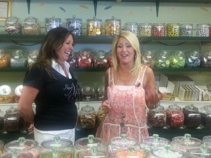 Dolly visits a candy store!